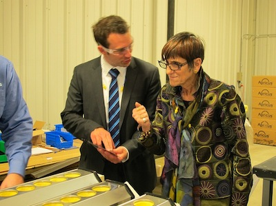 Congresswoman Rosa DeLauro Meets With Apricus Inc.