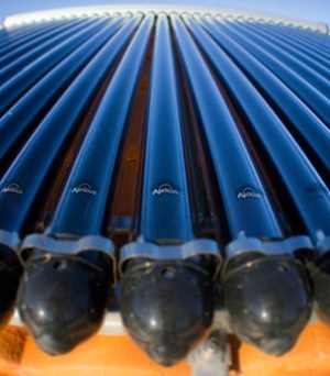 Apricus evacuated tubes for solar hot water
