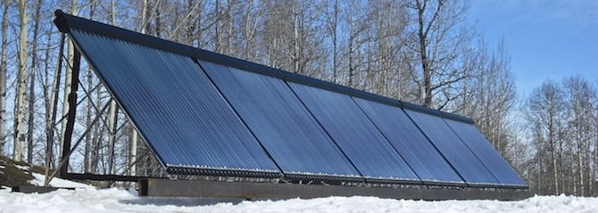 Apricus evacuated tube solar collectors