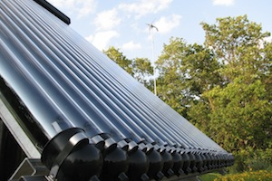 Apricus Evacuated Tube solar collector for solar water heating projects providing solar hot water
