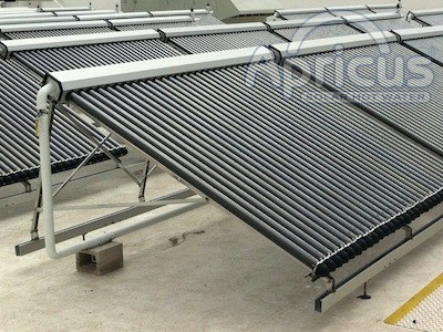 Apricus solar collector for water heating mounting frame