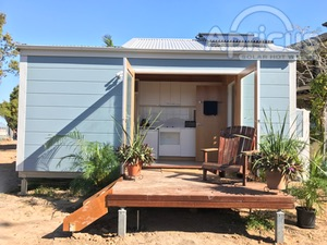 Apricus solar hot water collectors on Tiny Homes in Gosford