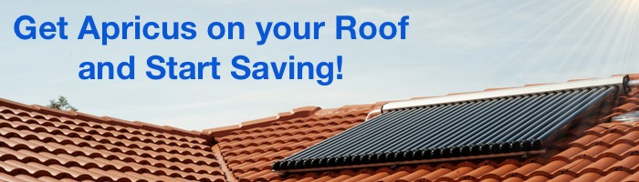 Get Apricus solar water heater on your roof to start saving energy