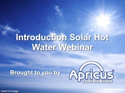 Solar thermal collector hot water training seminars and webinars