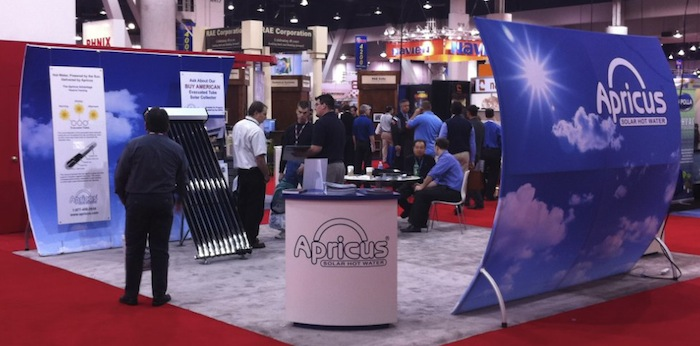 Apricus solar water heating trade exhibition
