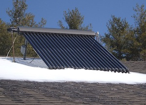 Apricus solar collector work efficiently in cold weather