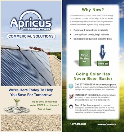 Apricus commercial project brochure