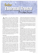 Apricus authored article by Eric Skiba - Solar Thermal Freeze Protection