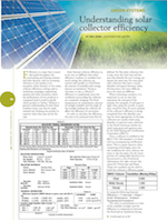 Apricus authored article by Eric Skiba - Understanding Solar Efficiency