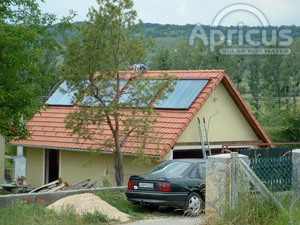 Apricus solar water heating installation for domestic hot water