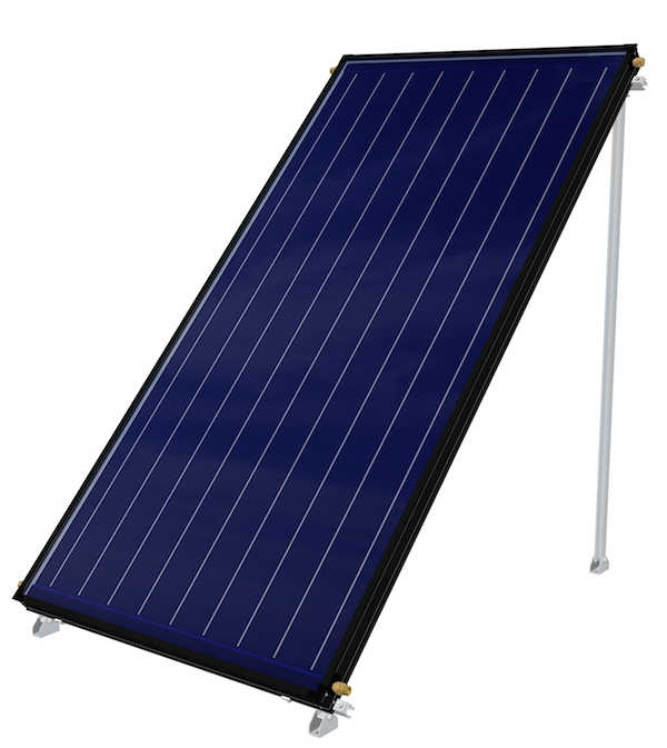 Apricus FPC-A flat plate solar hot water collector for residential and commercial hot water