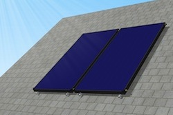 Apricus flat plate collector solar water heater